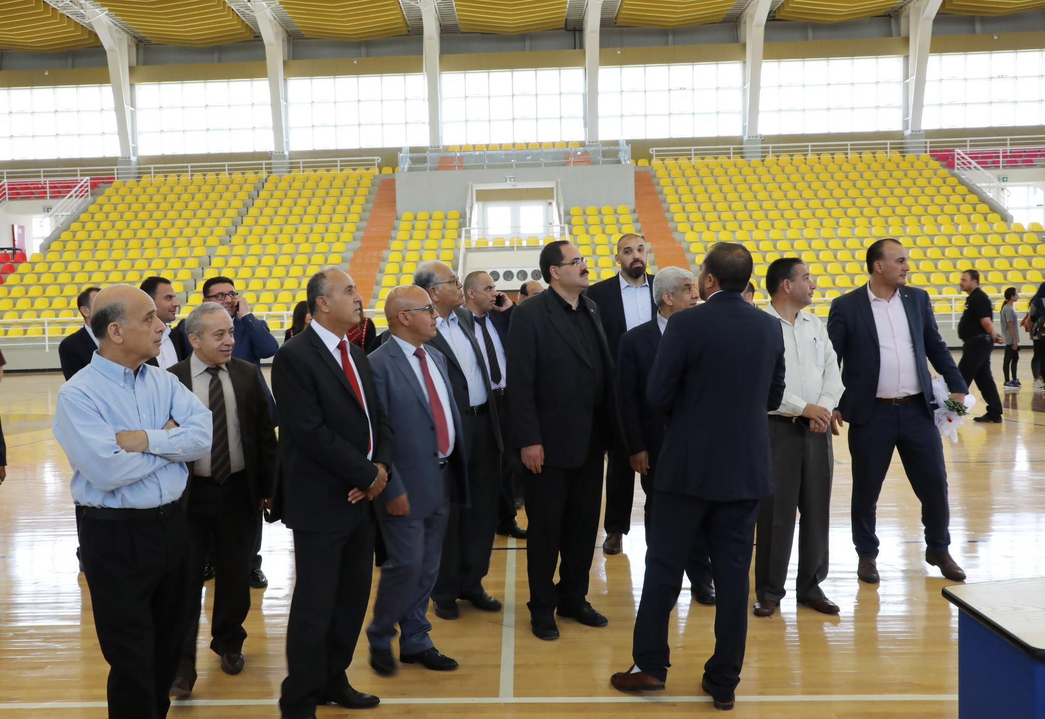 Part of the gymnasium hall opening