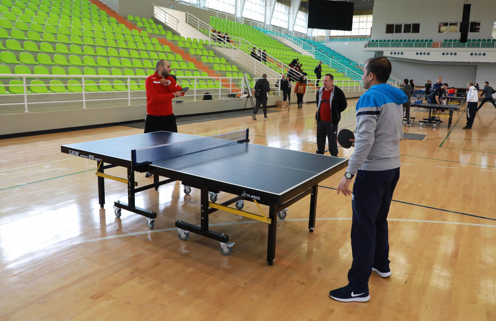 Photos of the Table Tennis Championship for University Employees