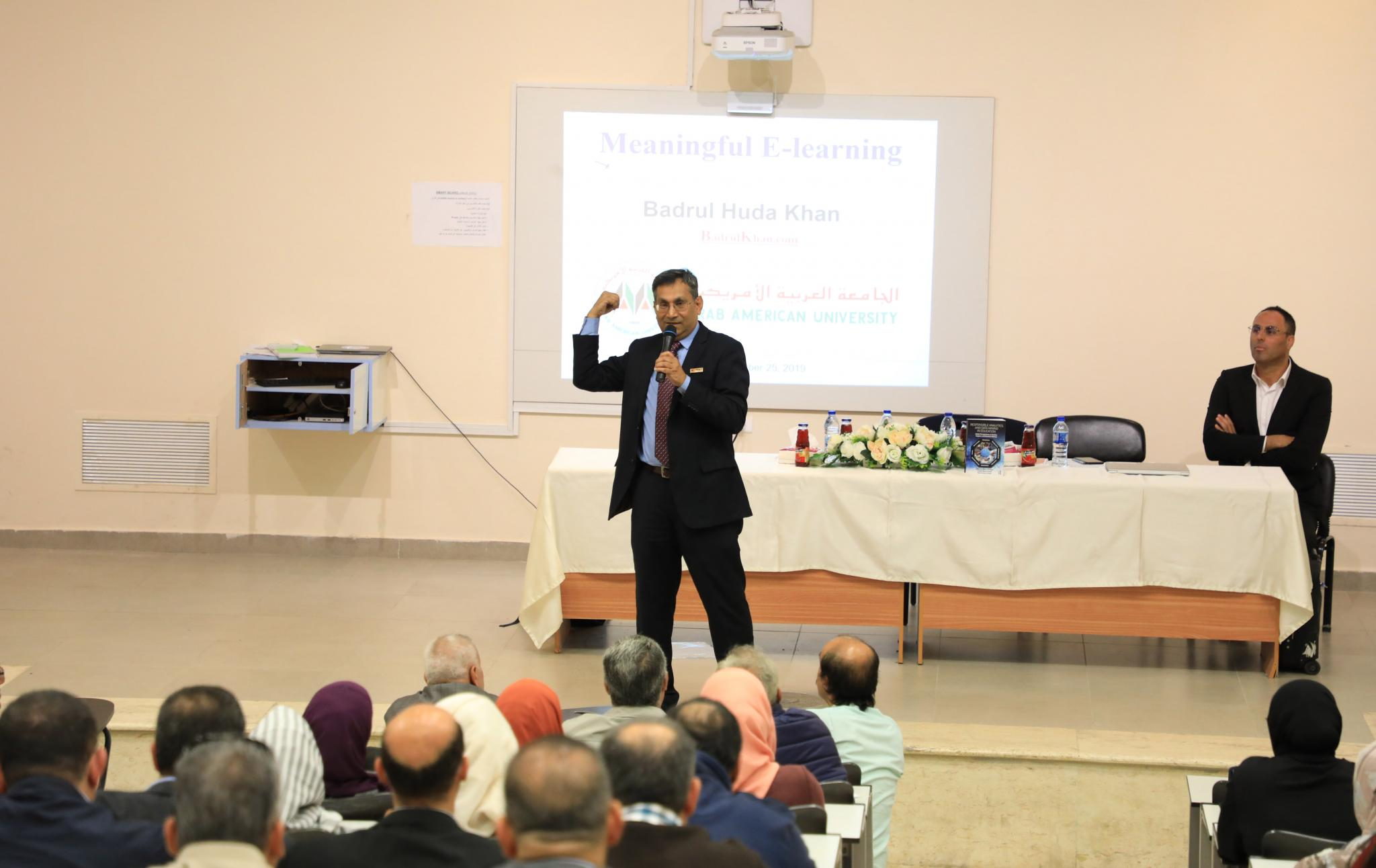 AAUP Hosts the International Expert Bader ALHuda Khan in a Workshop about Electronic Learning