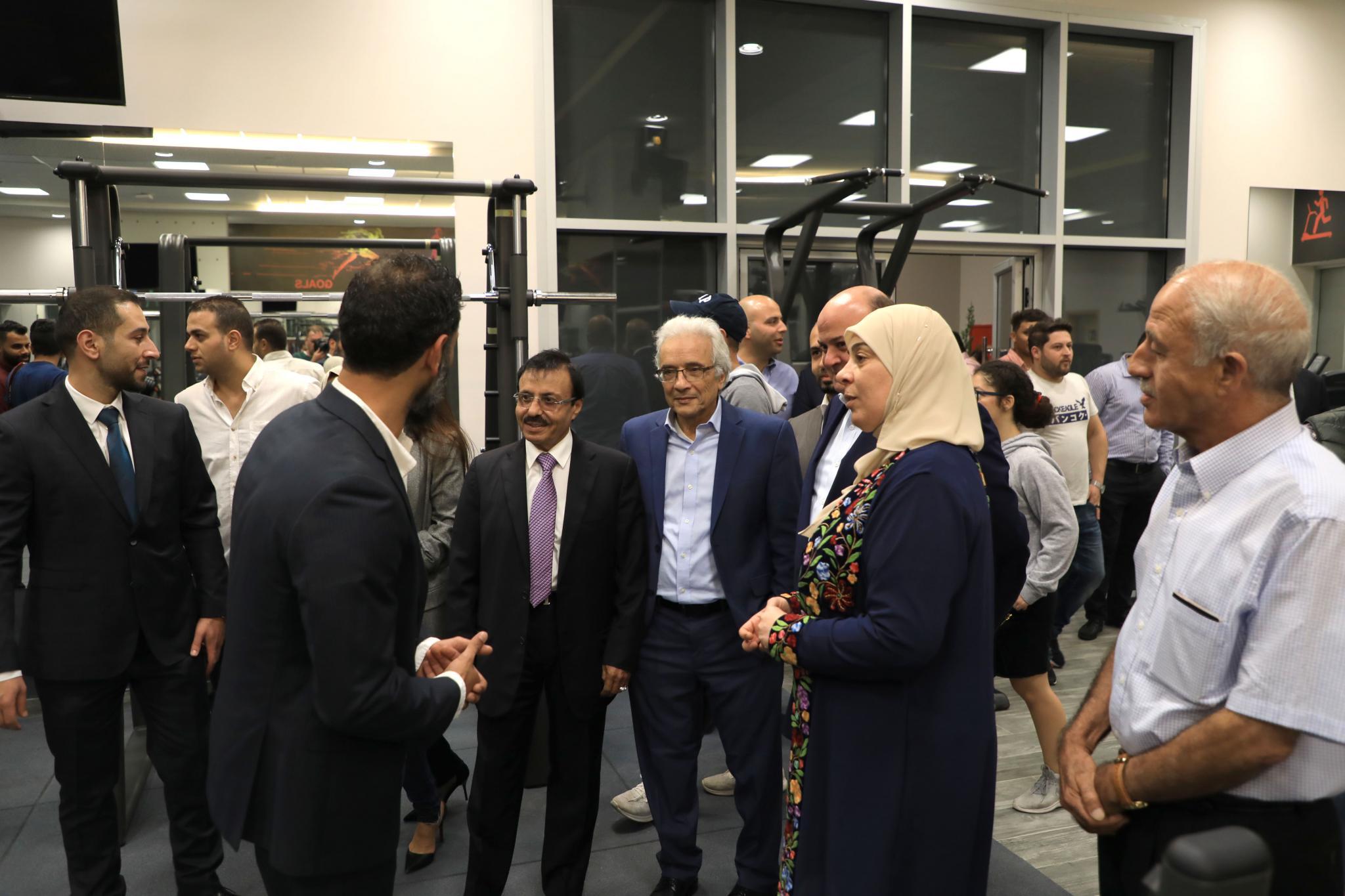 افتتاح نادي اللياقة البدنية في حرم الجامعة في رام الله