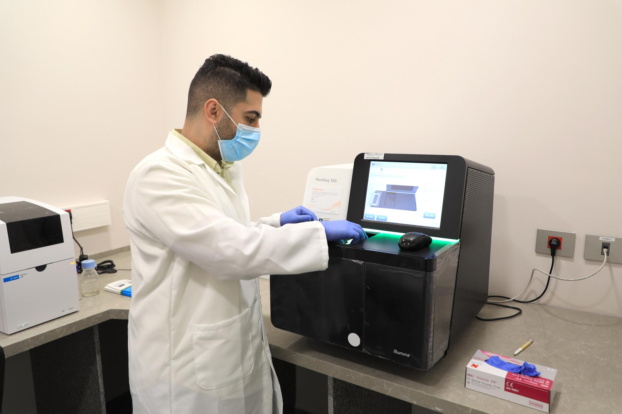 The genetic sequencing of COVID-19 in the infected people in Palestine