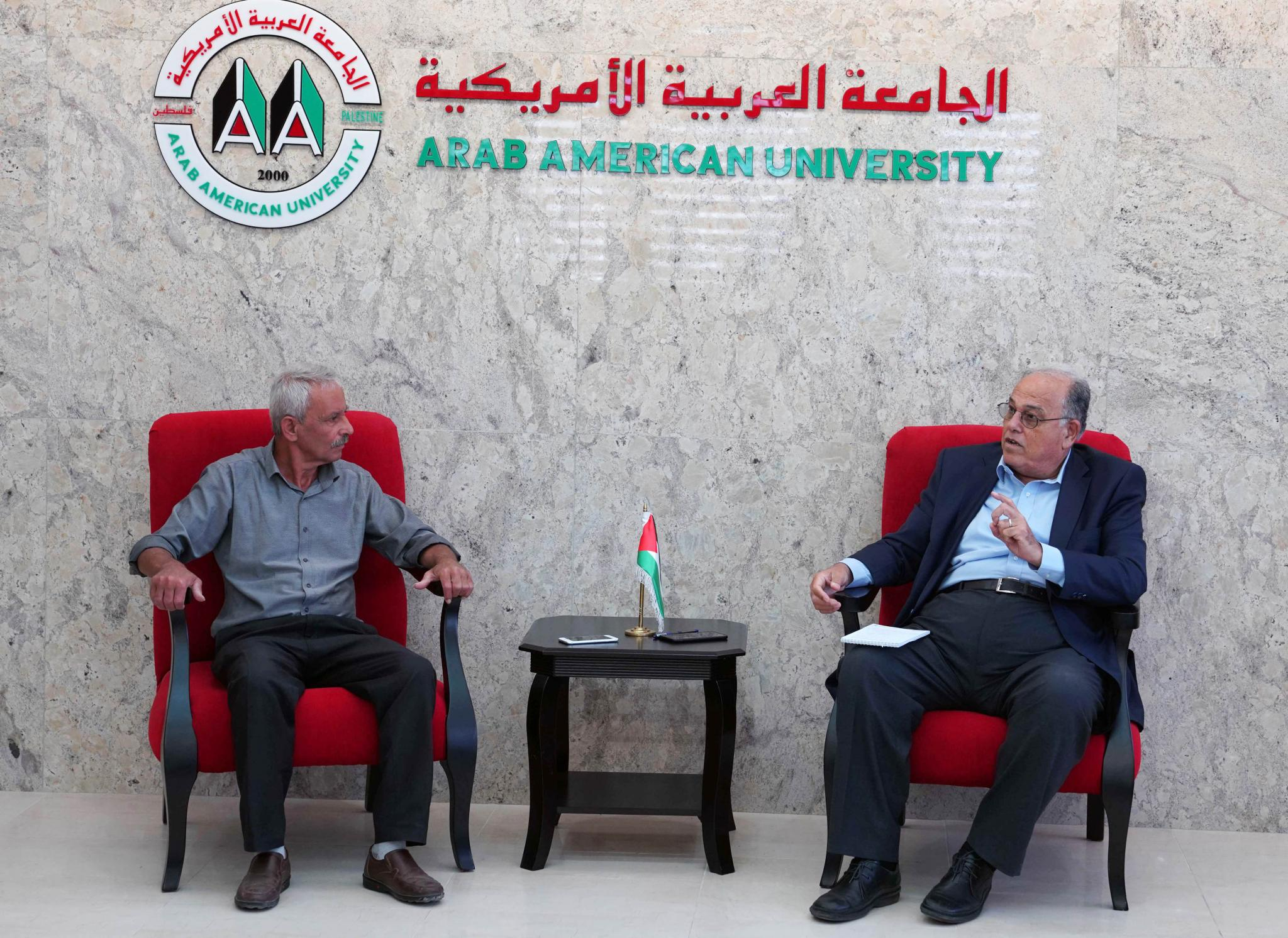 Fatah Movement in Jenin visits AAUP to congratulate it on the accreditation of the Bachelor in Medicine