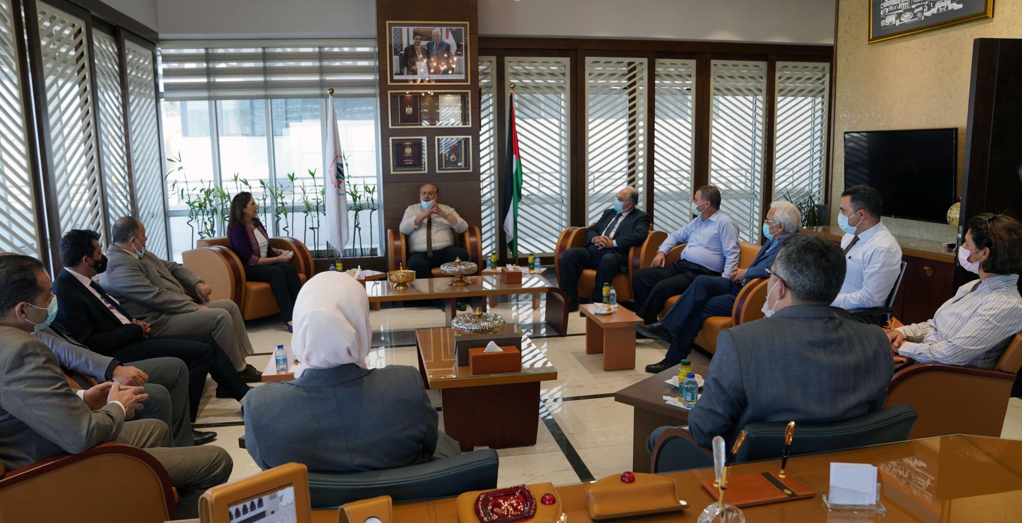 """The Signing of an Agreement between AAUP and the Palestinian Central Bureau of Statistics to Start the BA Program in """"Statistics and Data Sciences"""""""