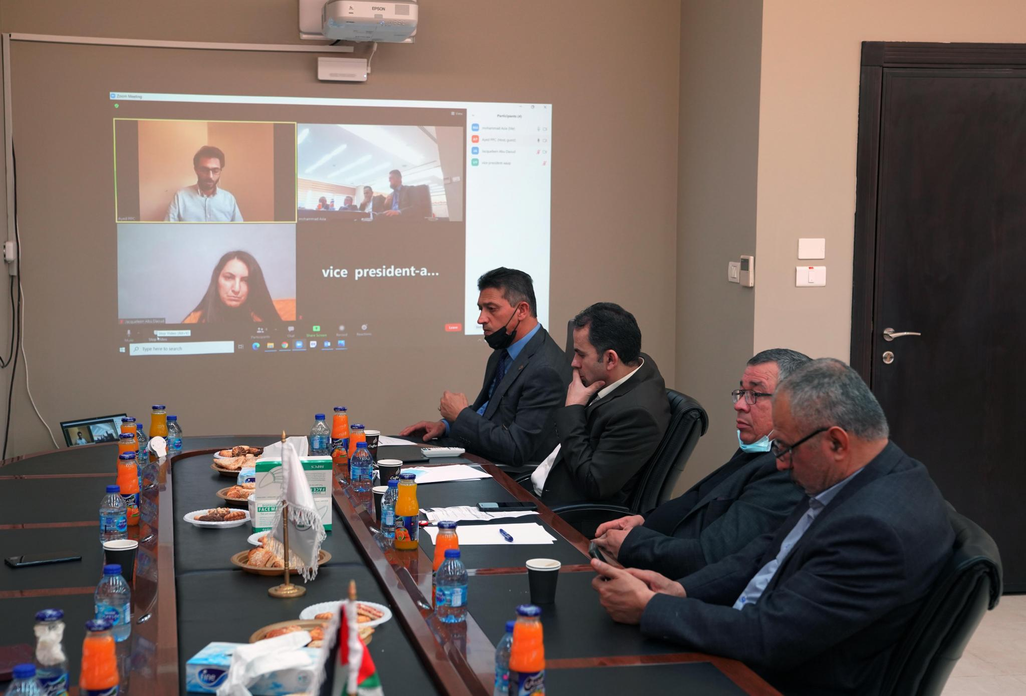 The Board of Directors of the Center of Excellence for Climate Change and Environmental Technology in AAUP holds their regular meeting in the university