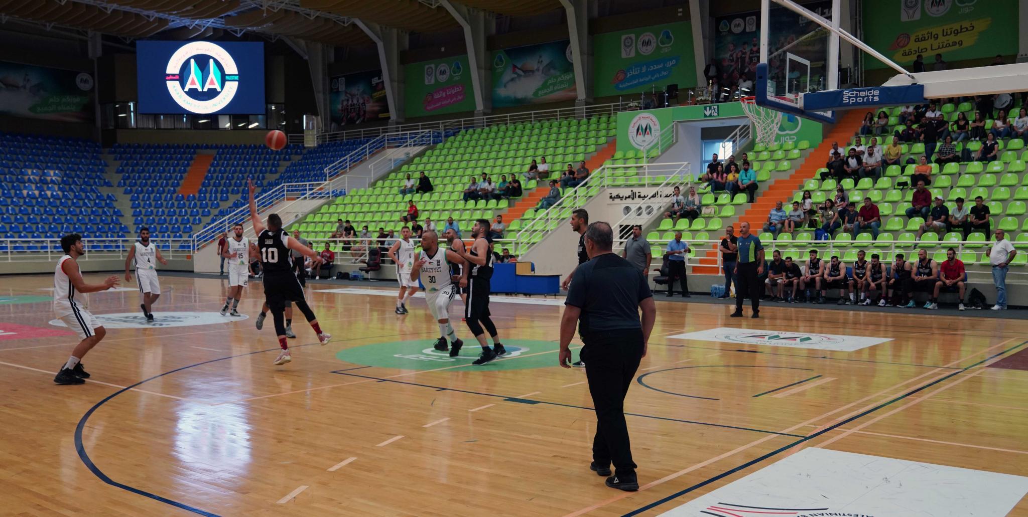 AAUP Hosts a Game between Sarreyet Ramallah Team and Orthodox Ramallah Club Team in its International Sports Hall