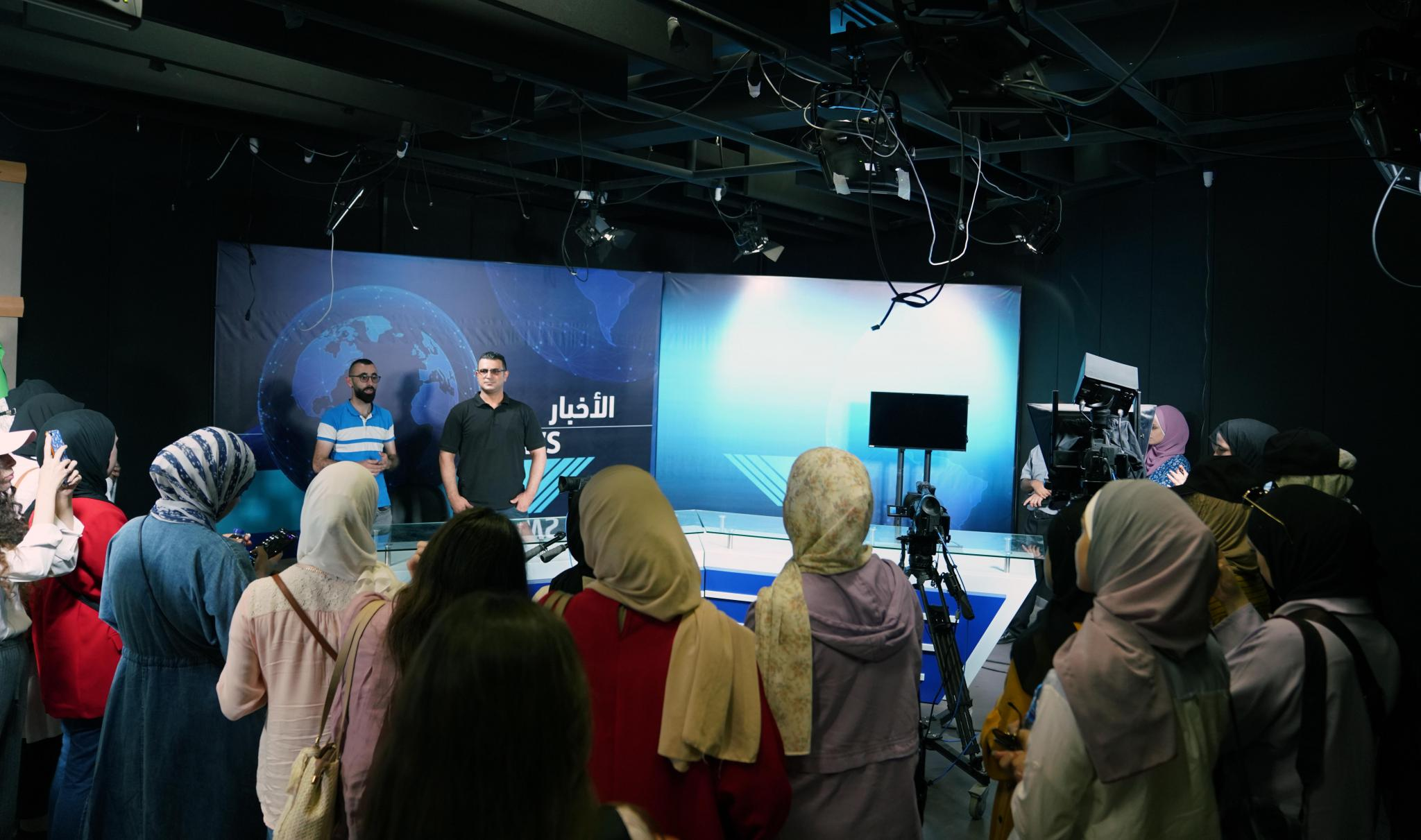 From Asdaa' News Organization, a Youth Journalists Delegation Visits AAUP