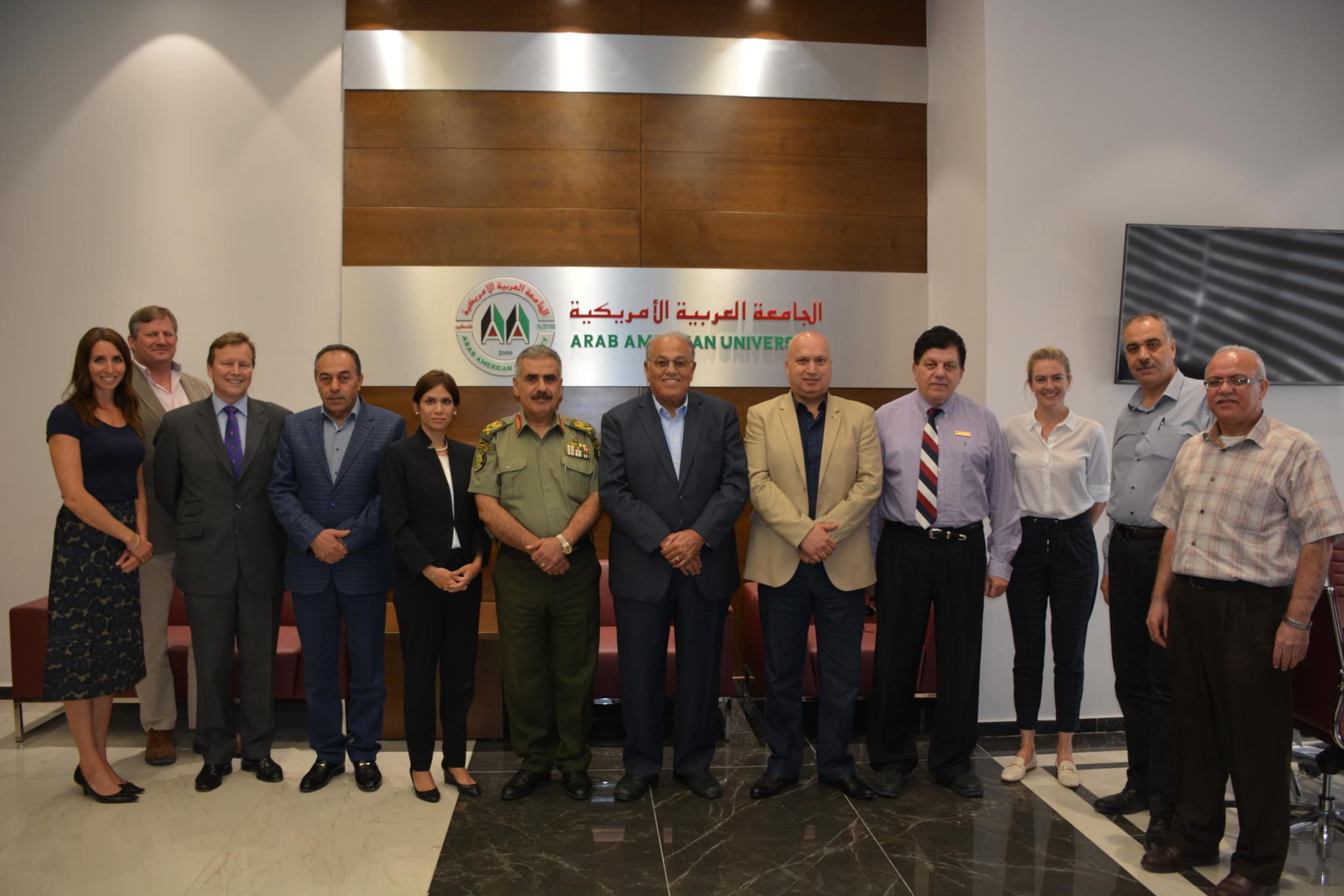 Group picture for both the university delegation and the Ministry of Interior delegation