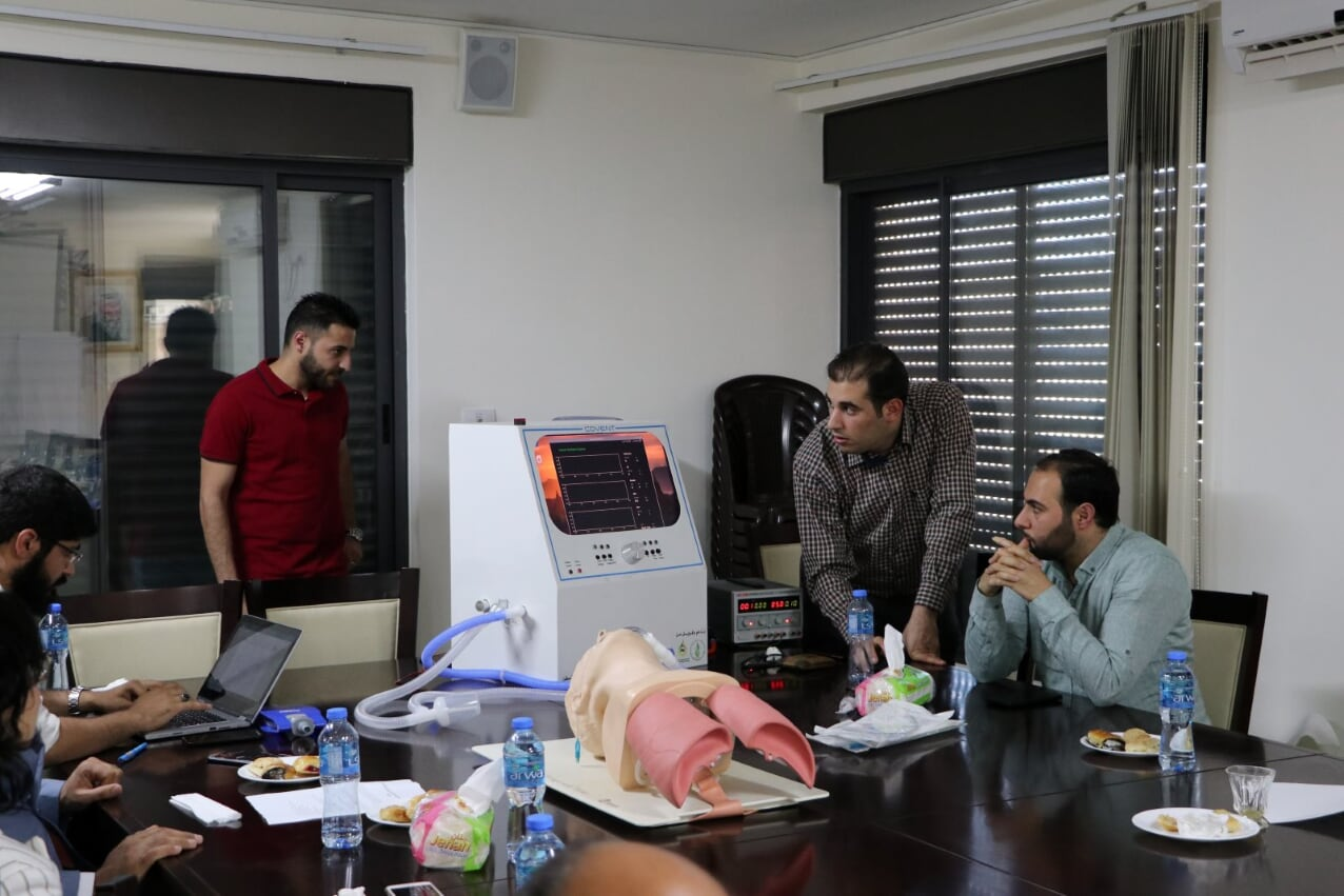 "AAUP Contributes in Supporting the Project of "" COVENT Ventilator "" the first of its Kind in Palestine"