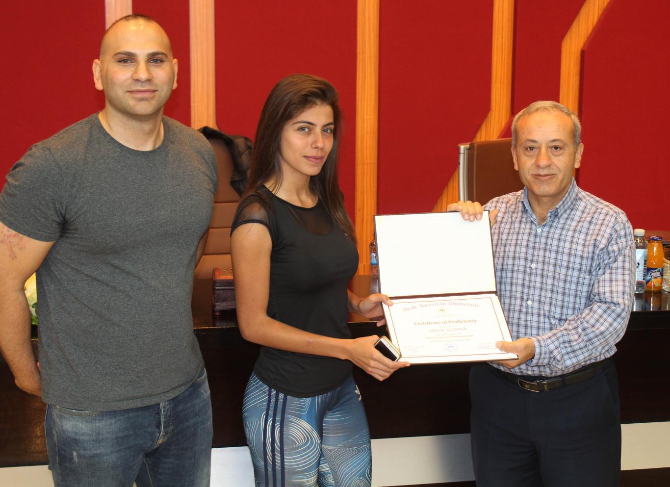Distributing the training certificates
