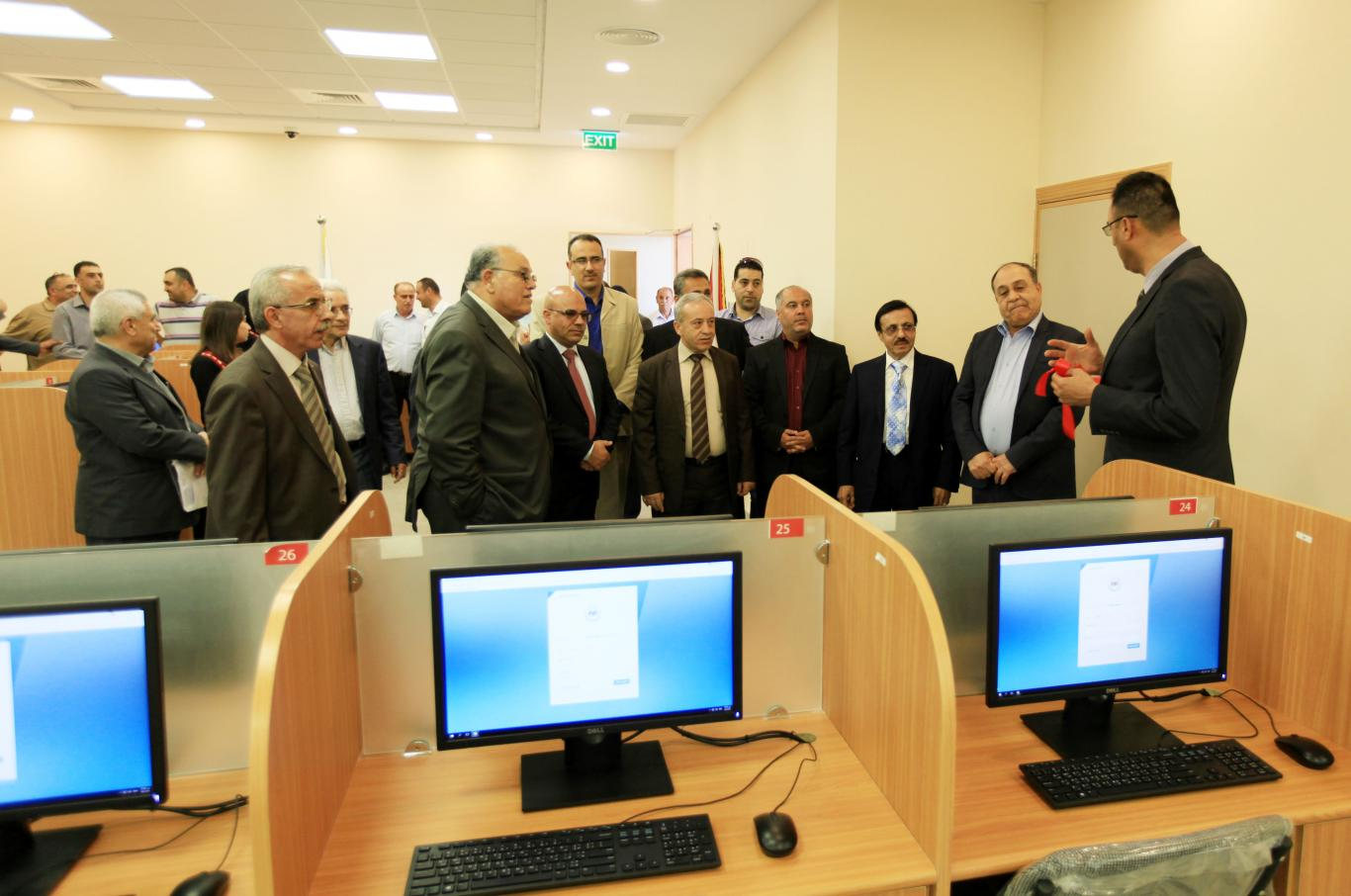 During opening the new computer laboratory
