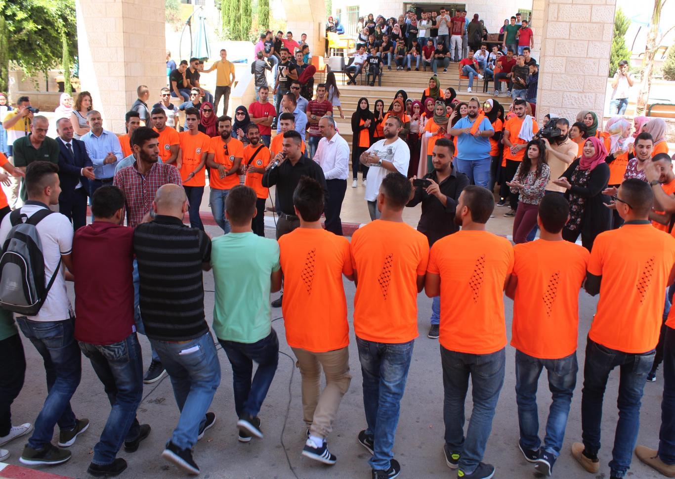 الجامعة العربية الامريكية تحتفي بيوم الشباب العالمي بتنظيم نشاط شبابي فني تفاعلي