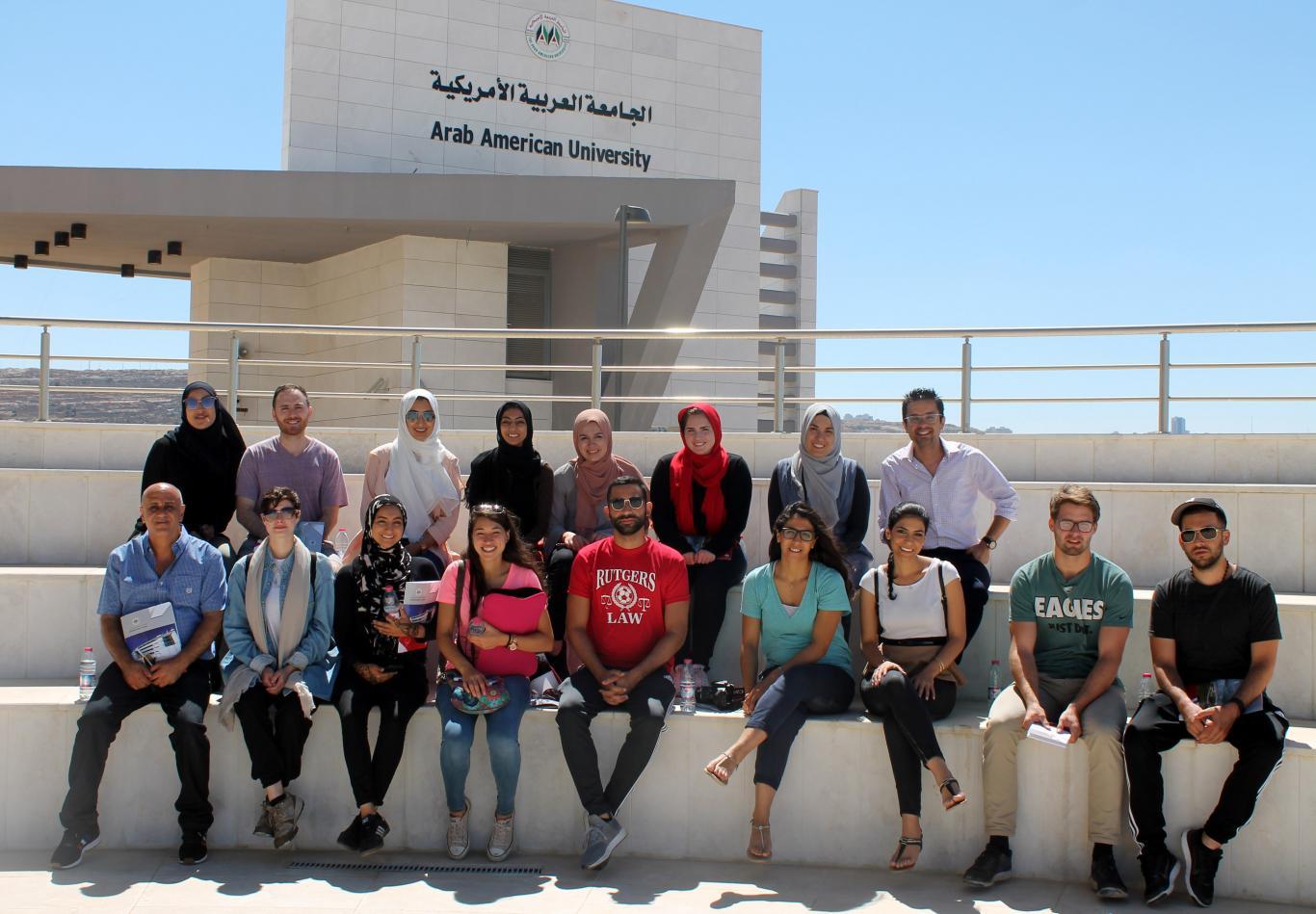 الجامعة العربية الامريكية في رام الله تستقبل وفدا من مركز الجالية الفلسطينية الامريكية