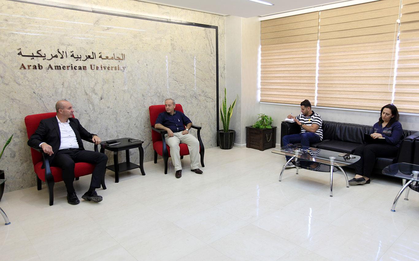 Part of the Mahmoud Abbas Foundation CEO Mr. Jamal Hadad visit
