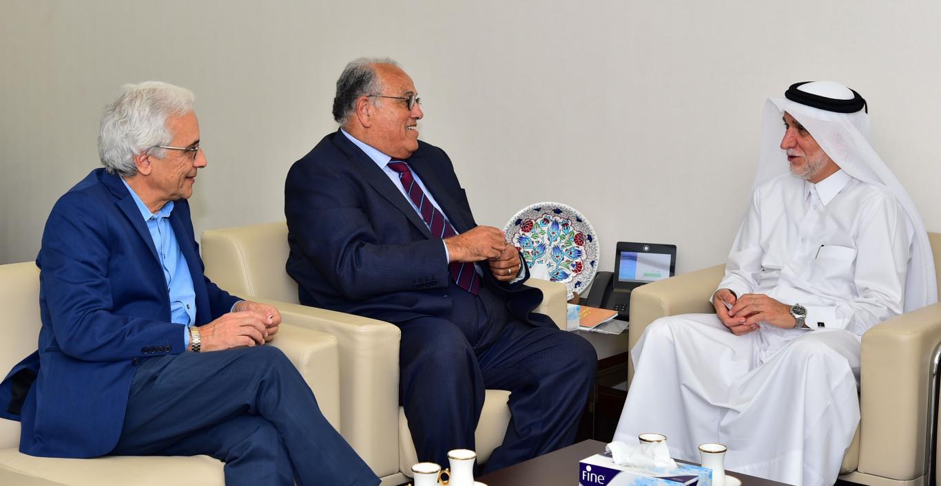 Dr. Darwish Al-Emadi, Prof. Dr. Ali Zeidan Abu Zuhri, Prof. Dr. Waleed Deeb