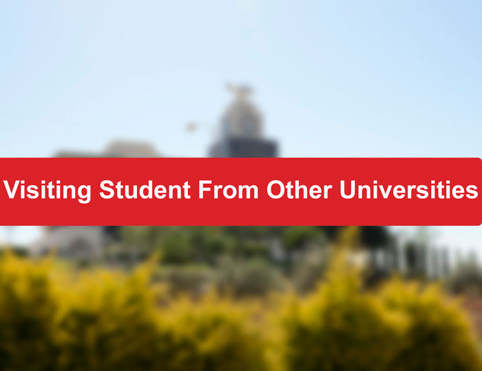 Visiting Student to Arab American University From Other Universities (Free Study)