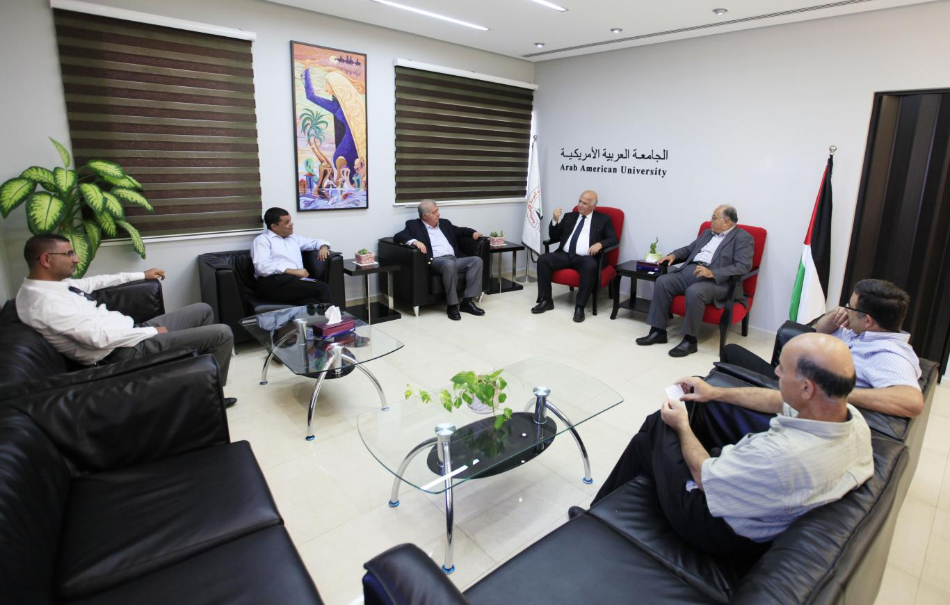 Welcoming the Palestinian Bar President in the Northern district Mr. Khalid Zoubi