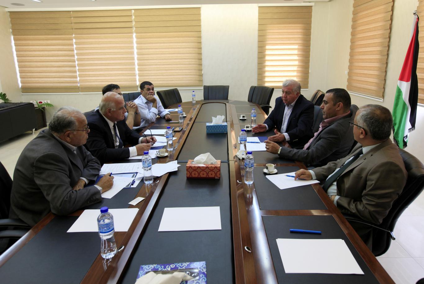 Reception of Palestinian Bar Association President in the Northern Mr. Khalid Zoubi