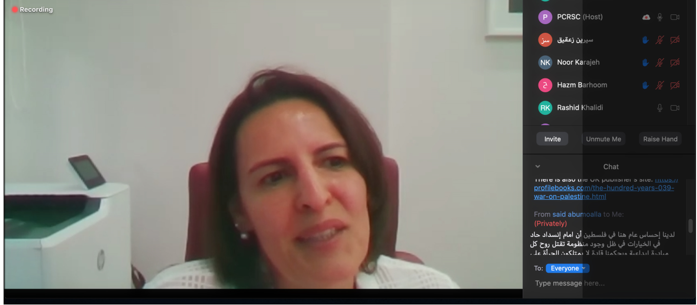 Dr. Nahed Habiballah- the Social Sciences Professor and a Faculty Member in the Faculty of Graduate Studies in AAUP