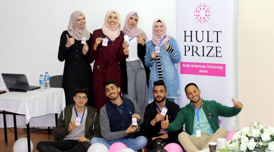 University students organizing the first stage of the Hult Prize competition