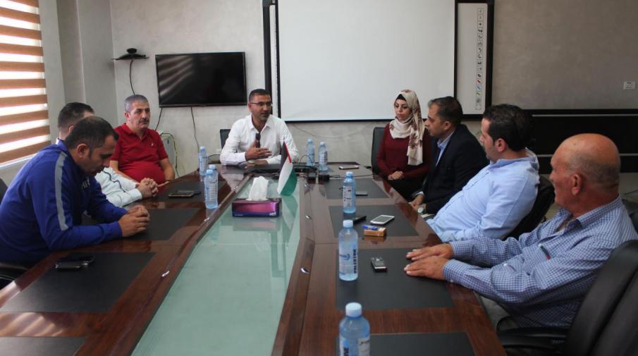 The Palestinian Football Association delegation visit