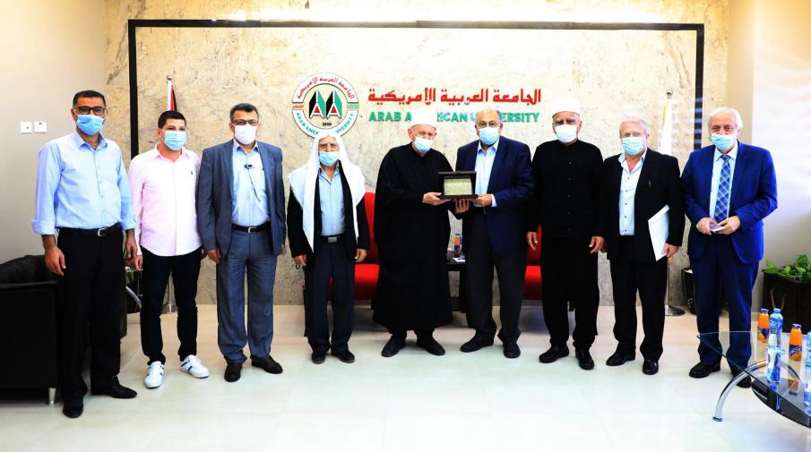 Welcoming a delegation from Golan in Arab American University