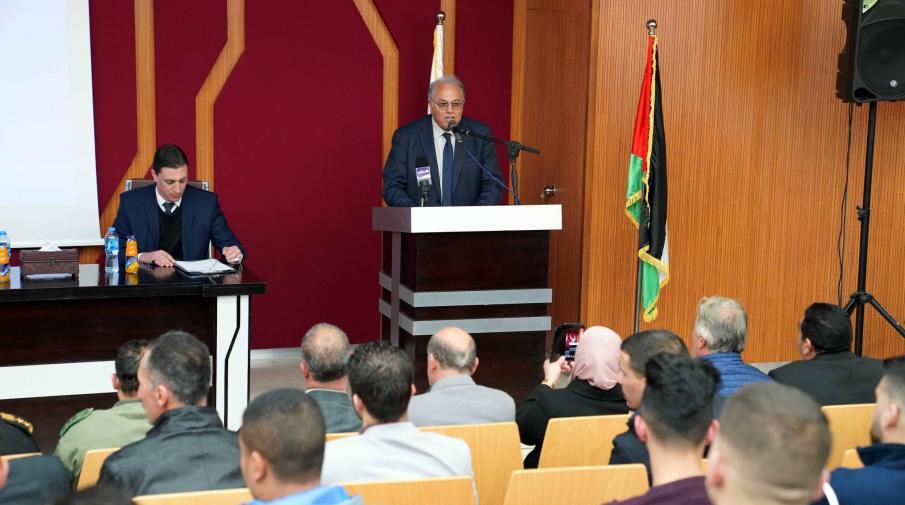 Part of the University President Prof. Ali Zidan Abu Zuhri