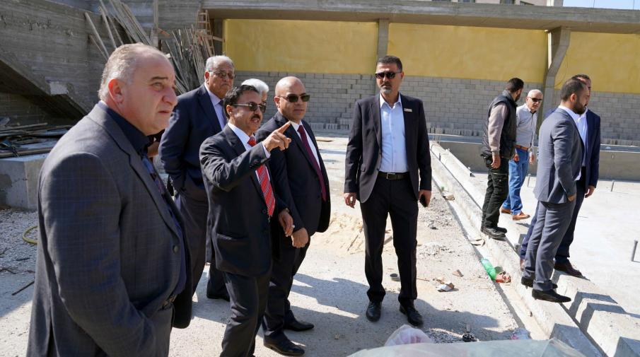 Dr. Yousef Asfour Chairman of the University's Board of Directors visits the University's development projects