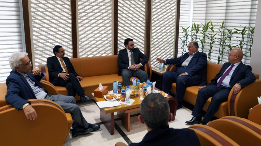 Part of the visit of Minister of Culture Dr. Ihab Bseiso to the university