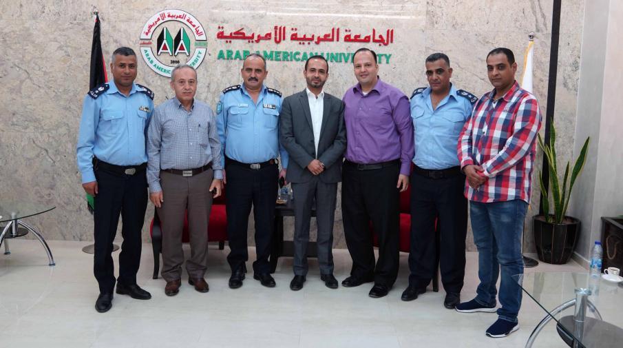 Police of Jenin Governorate visit the University