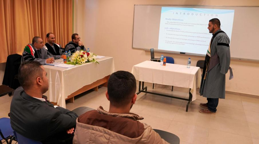 The Researcher Ahmed Amjad Hanani a student of strategic planning and fundraising