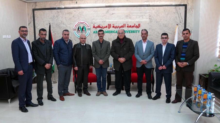 The university welcomed a delegation from the Jordanian field hospital in Jenin