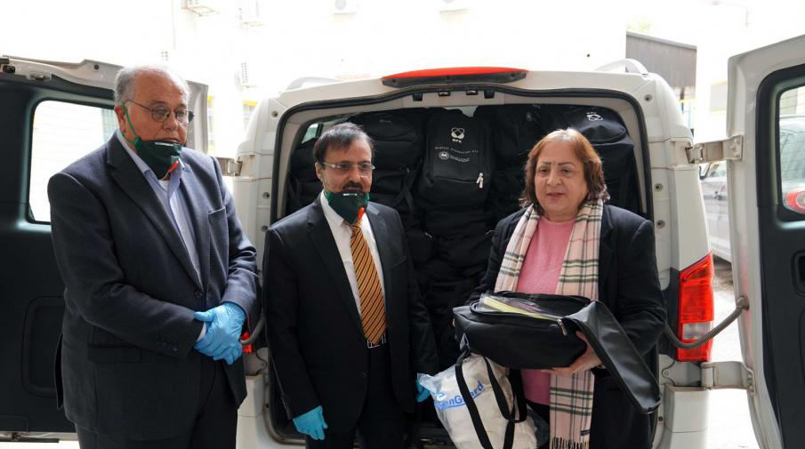 AAUP donation of 200 kits of medical and preventive supplies to the Palestinian Ministry of Health to help in facing COVID-19