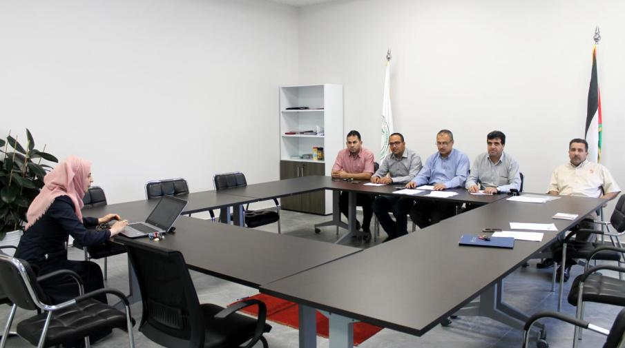 Part of Interviews for Master Scholarships' Applicants at AAUJ Ramallah Campus