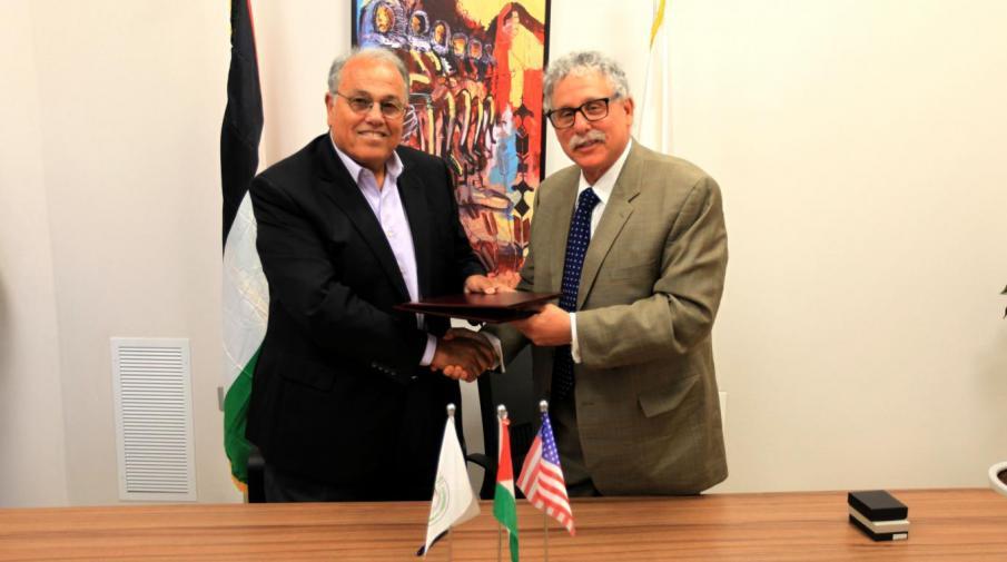 University President Prof. Dr. Ali Zeidan Abu Zuhri and Dr. Mack Rosentraub