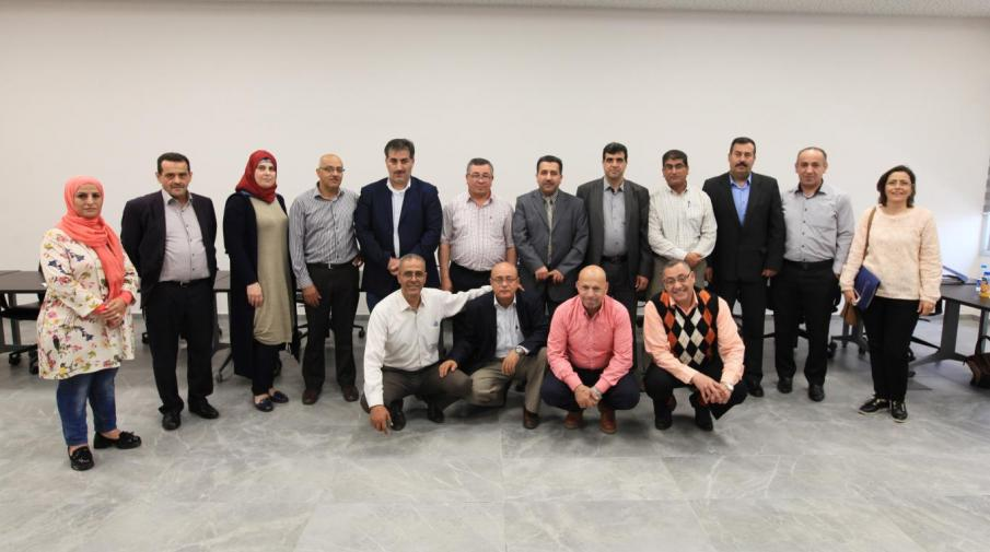 A lecture in the Arab American University, Ramallah Campus, to finalize the establishment of a research center for water and climate change