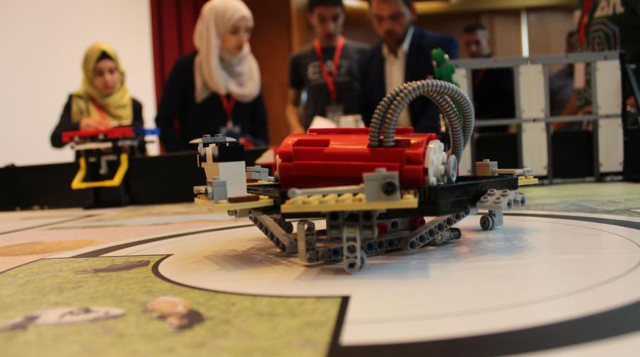 Robot assembled by students