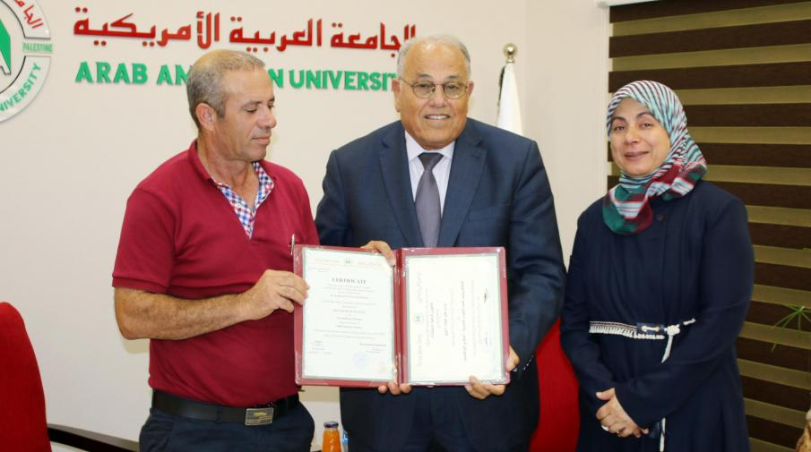 The University's President Hands Over  to The Family of The Deceased Maram Sabeeh her University Certificate
