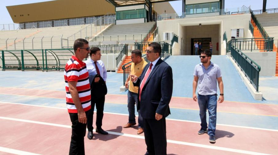 Part of the delegation from Palestinian Diplomatic Corps visit