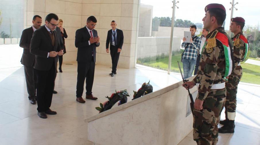 Visiting the martyr president Yasser Arafat shrine