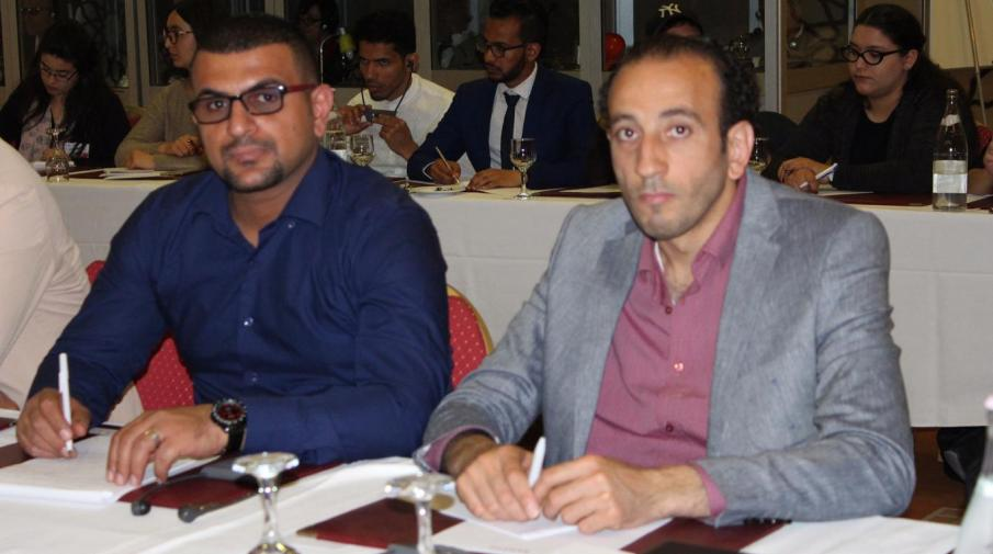 University representatives in Arabic Language Department at Faculty of Art; Said Abu Malaa and Sudqi Mousa