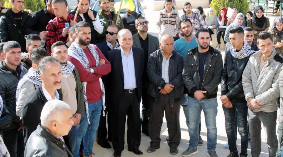 Dr. Al-Qudwa participating in the vigil