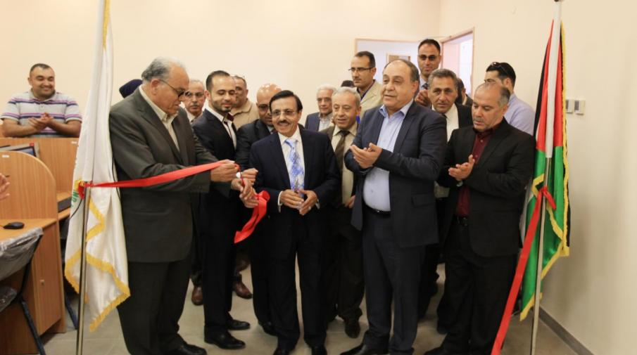 Arab American University Head of Directors Board Dr. Yousef Asfour opening new computer lab