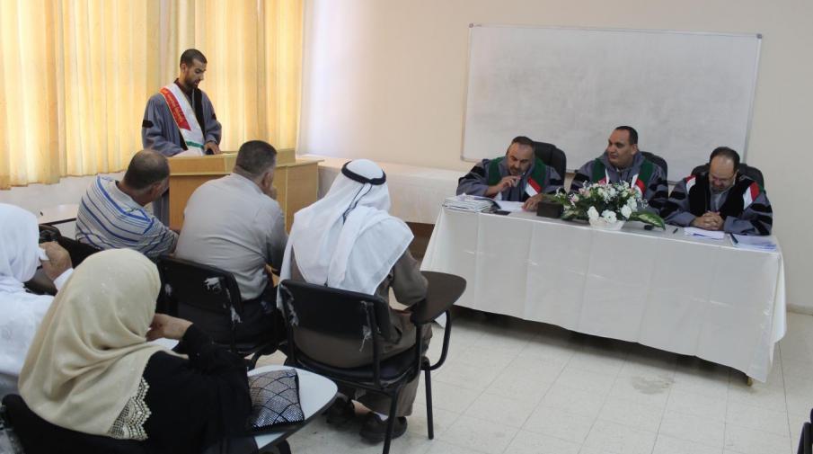 Researcher Mohammad Rasheed Al-Atrash thesis defense
