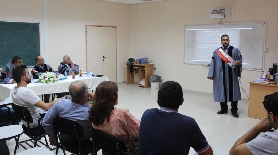 Part of Sari Hisham Abdallah thesis defense