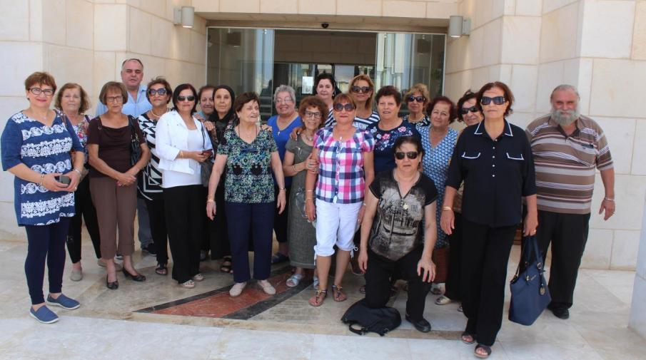جانب من زيارة وفد من فلسطينيي الداخل للجامعة