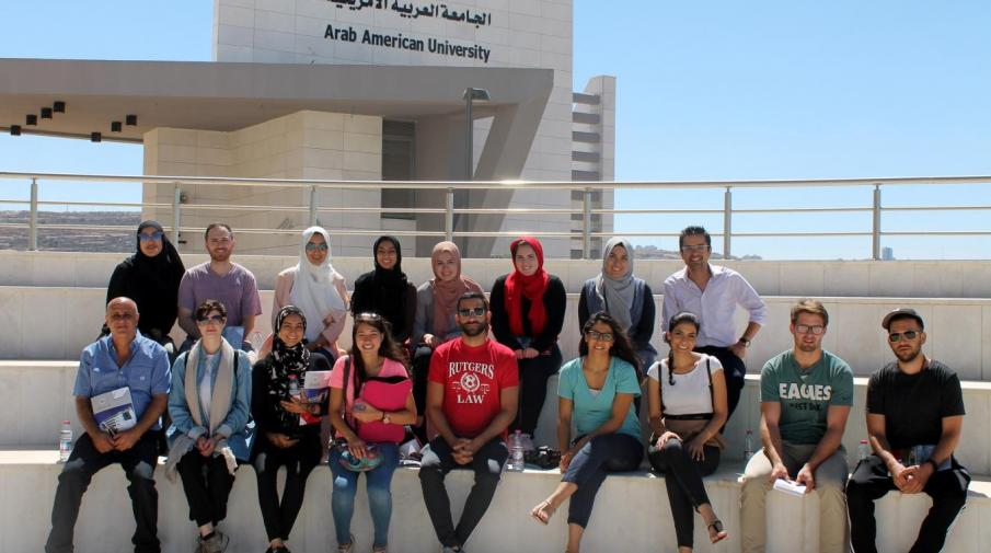 Arab American University Hosts Palestinian American Community Center Delegation in Ramallah