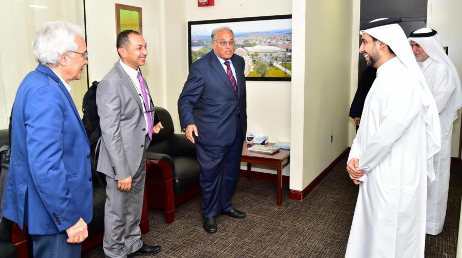 Prof. Dr. Hasan Derham, Prof. Dr. Ali Zeidan Abu Zuhri, Prof. Dr. Waleed deeb, and Dr. Moath Sabha