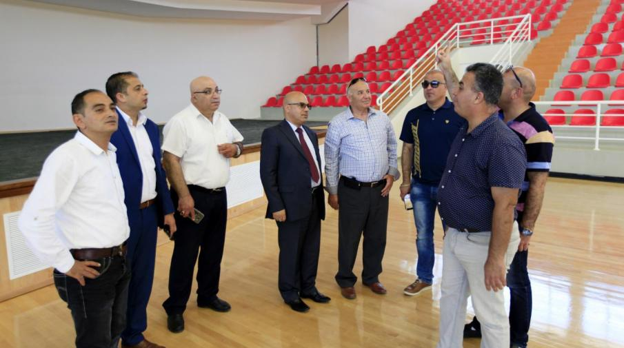 President of the Palestinian Basketball Federation and Members Visits the University