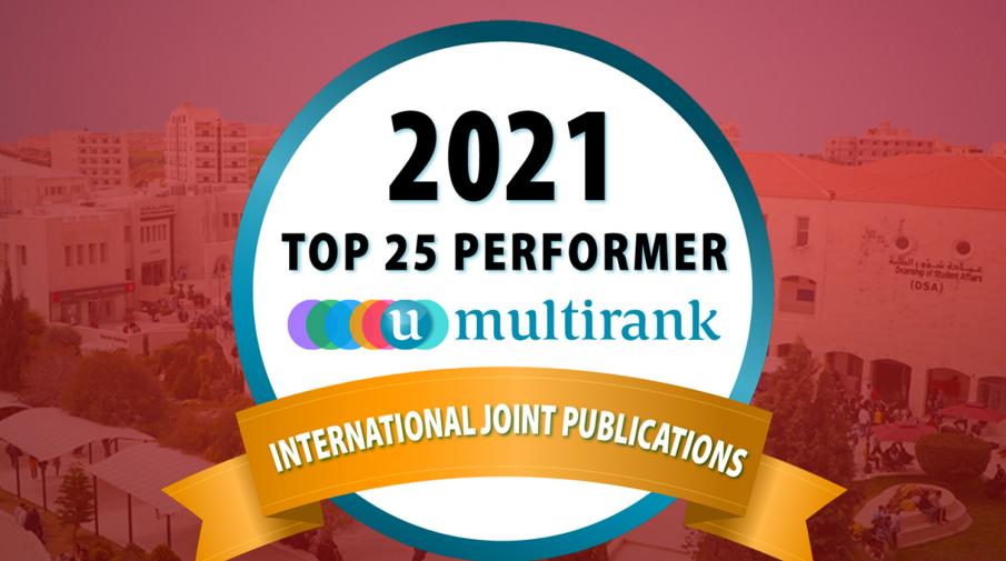 AAUP Ranked 8th among Top 25 Universities in the International Joint Publications Criterion, in the U-Multirank Classification