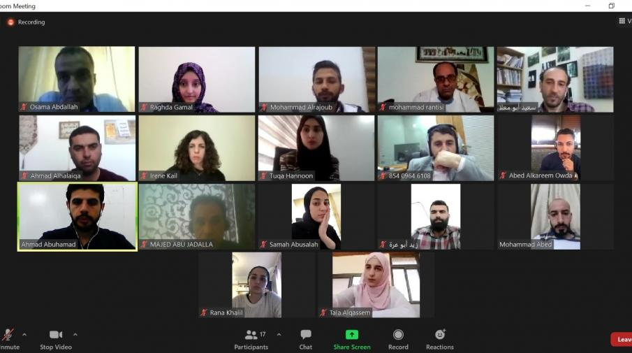 AAUP and Al Jazeera Media Institute Concludes the Course about